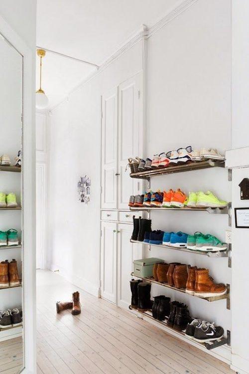 Ideeën voor het opbergen van schoenen