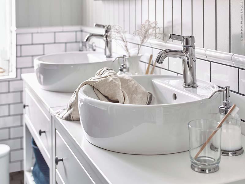 IKEA badkamer landelijk Hemnes