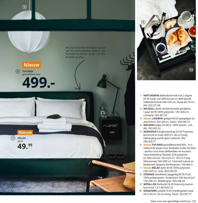 ikea catalogus 2021 gestoffeerd bed