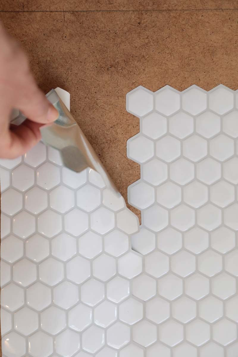 IKEA Duktig keukentje hack - achterwand tegelsticker