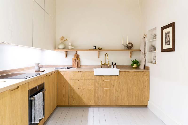 ikea keuken hack custom fronts eikenhout