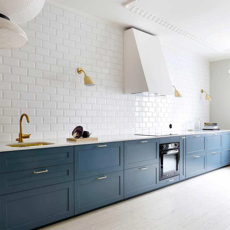 ikea keuken hack petrol blauw