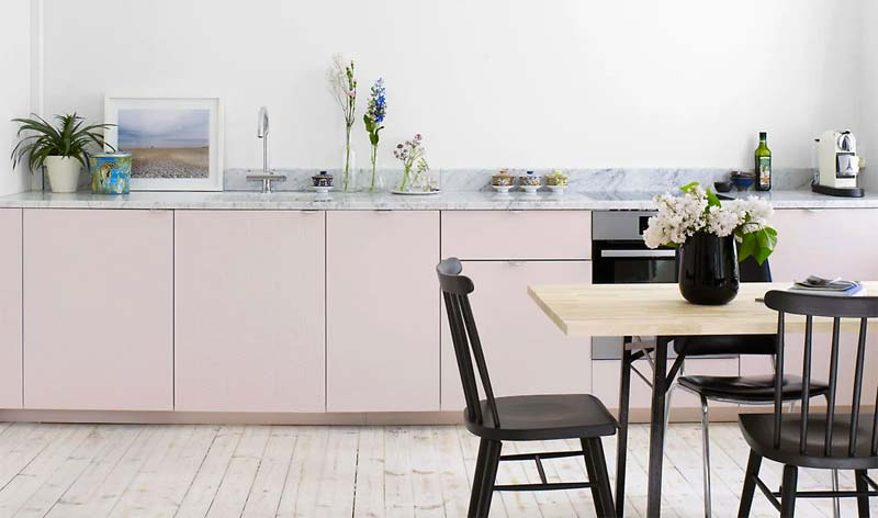 ikea keuken hack superfront roze