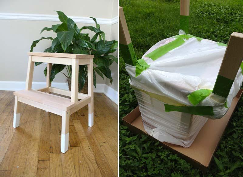 Michelle heeft een heel leuk projectje gemaakt van haar IKEA Bekvam krukje. Klik hier om het te zien.