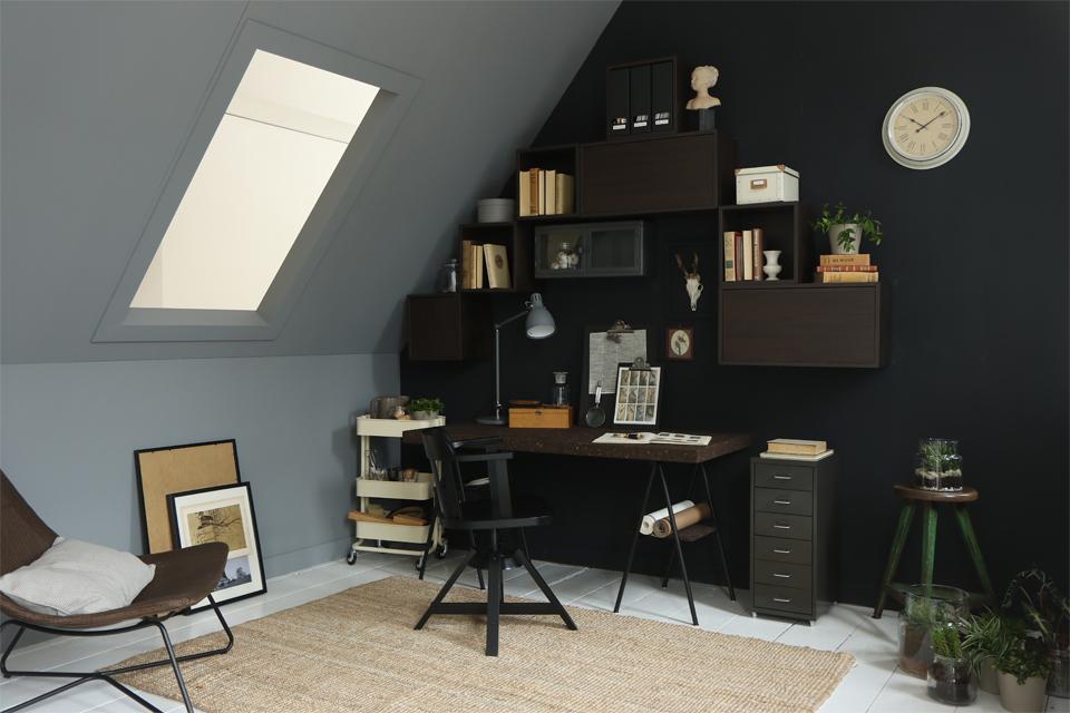 IKEA werkplek inrichten op zolder