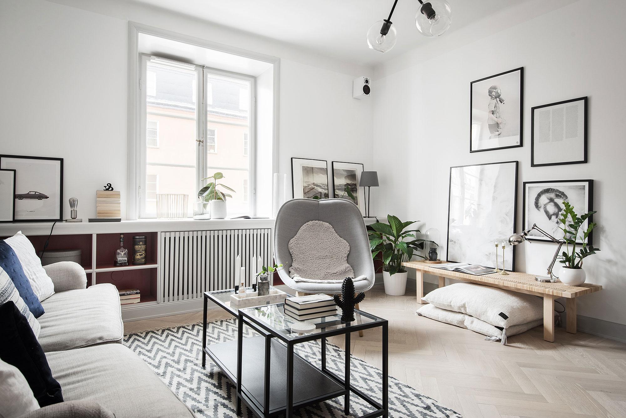 In deze leuke woonkamer hebben ze een mooie radiatorombouw vensterbank gemaakt!