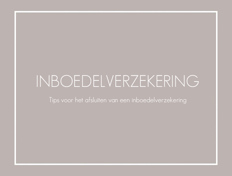 inboedelverzekering tips