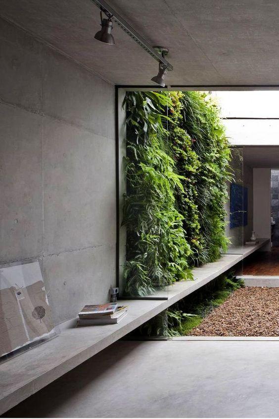 Industrieel interieur betonnen muren woonkamer