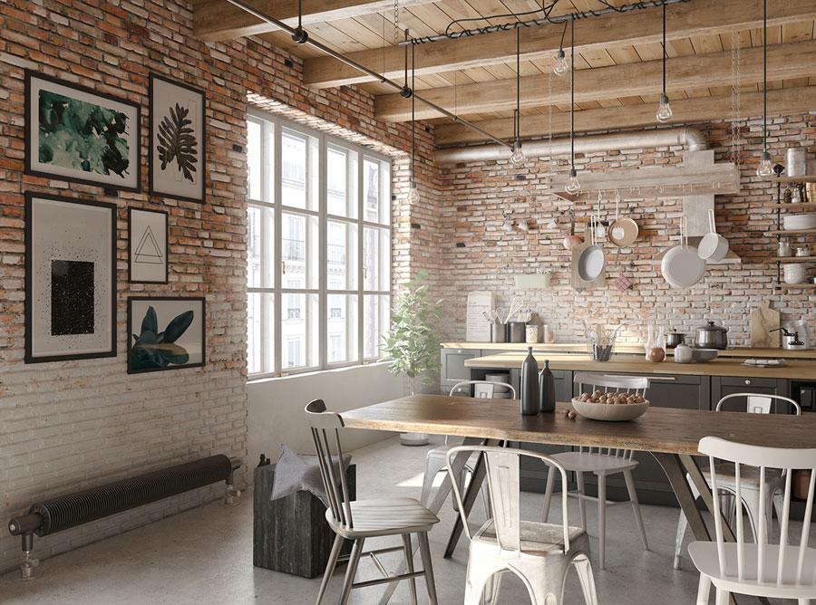 industrieel interieur industriële stoelen eettafel