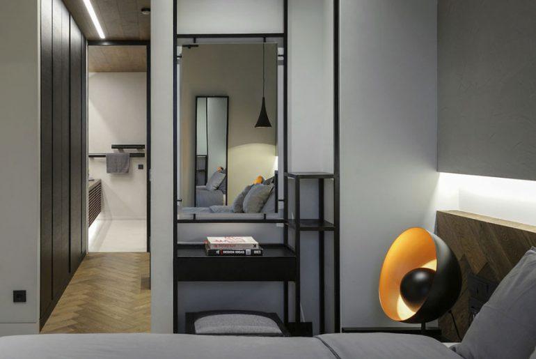 industrieel interieur kast slaapkamer