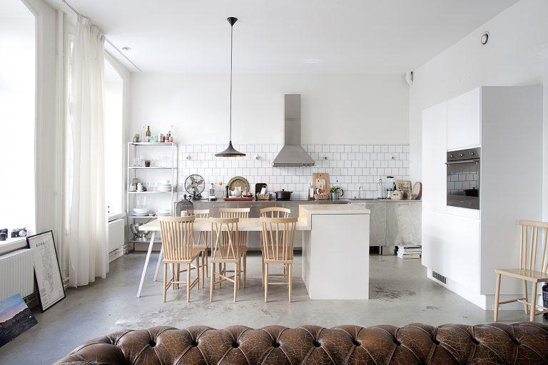 industrieel interieur rvs keuken