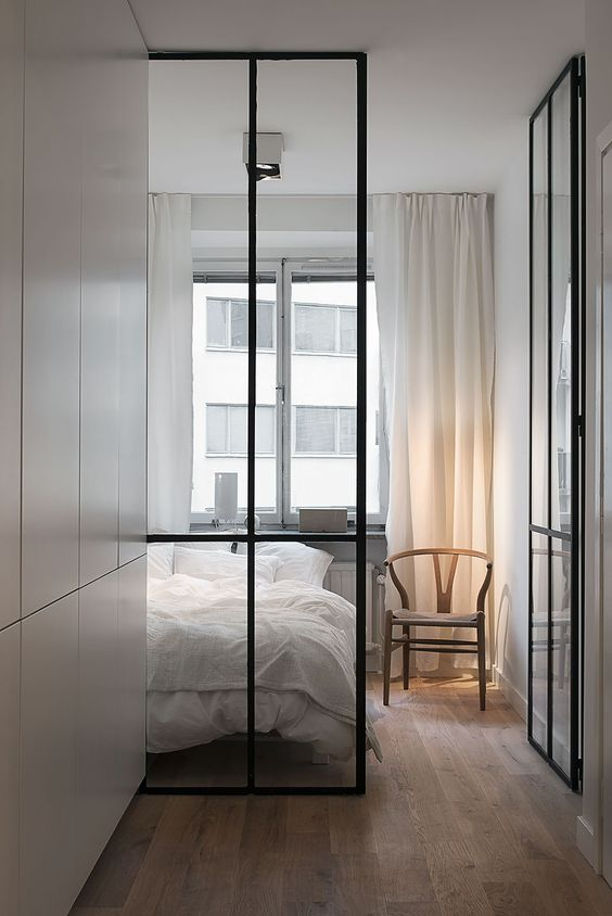 industrieel interieur stalen deur met glas