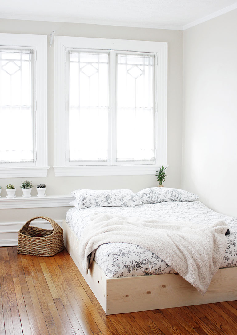 industrieel interieur underlayment bed