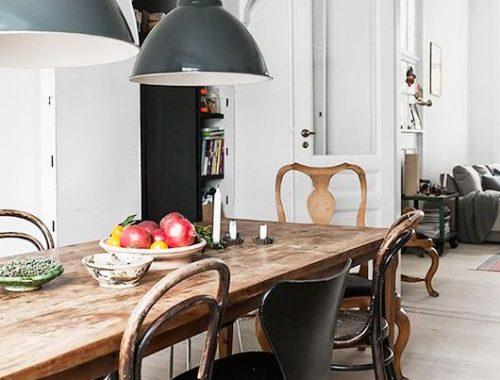industriele-hanglampen-boven-houten-eettafel