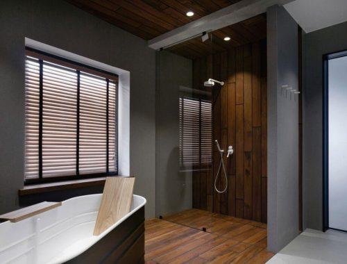 Industriële loft badkamer