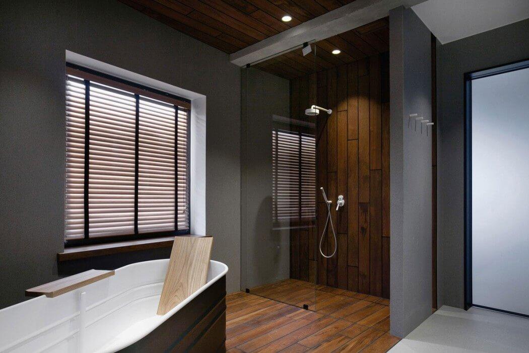 Stoere Industriele Loft : Industriële loft badkamer