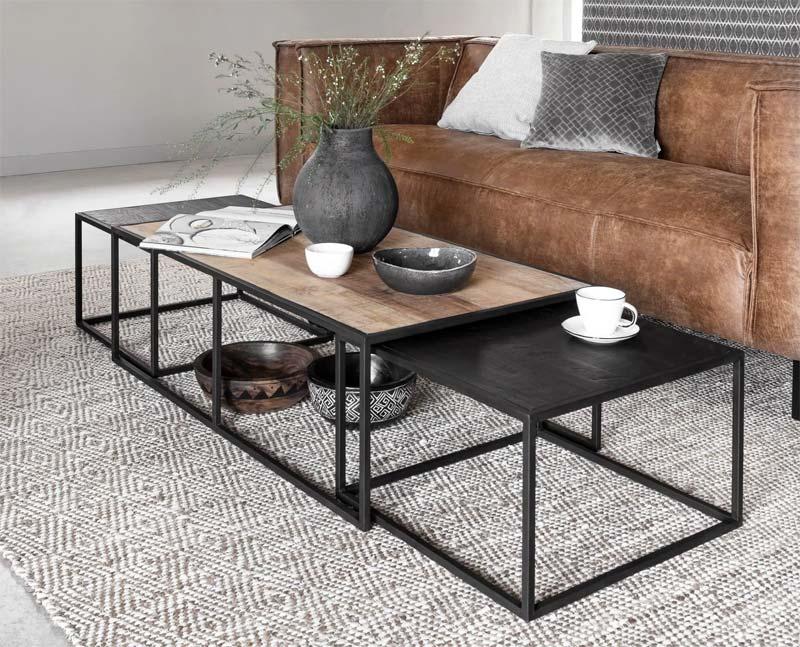 industriele meubels salontafel divino