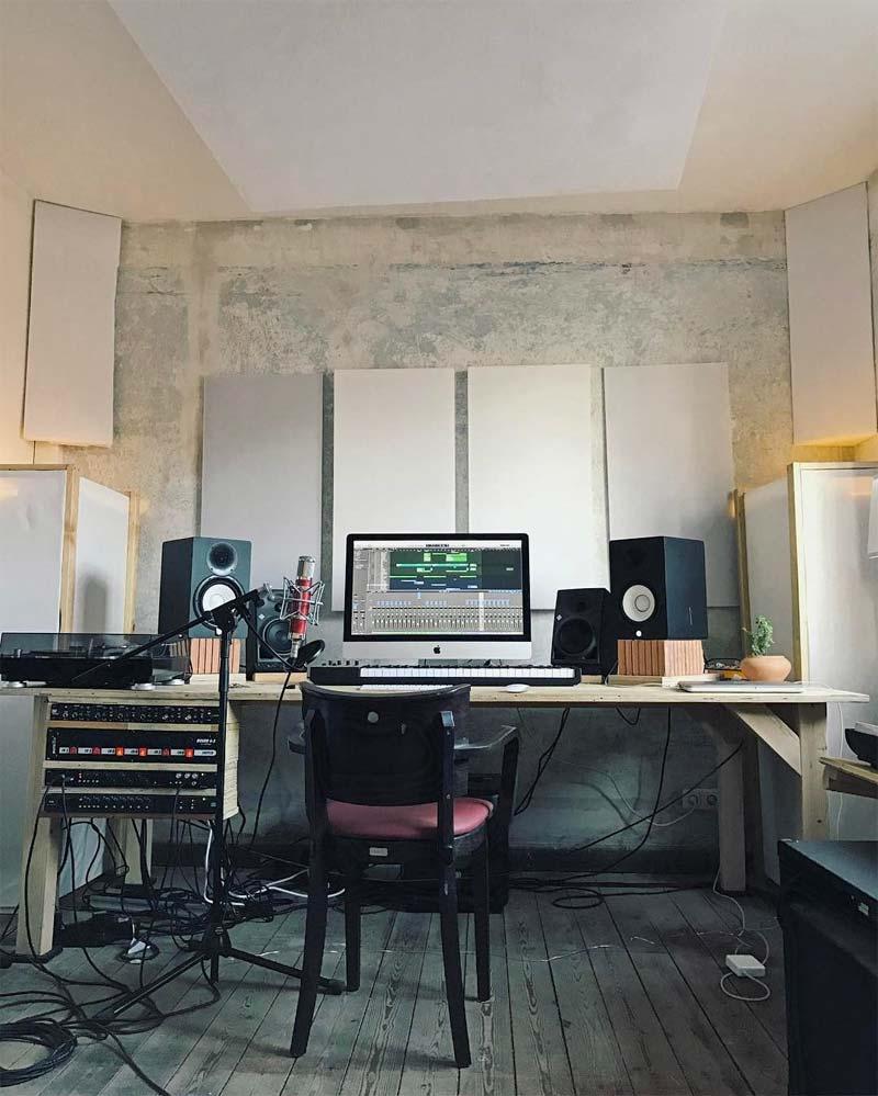 industriele muziekstudio thuis
