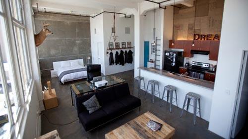 Industriële slaapkamer ideeën