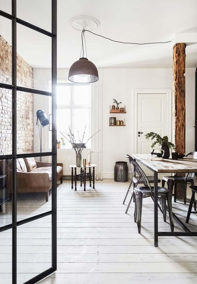 Industriële woonkamer meubels