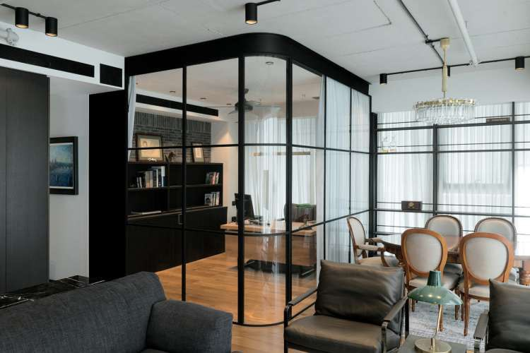 Inspirerend kantooridee in de woonkamer!