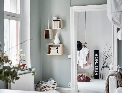 interieur muurkleur groen woonkamer verven