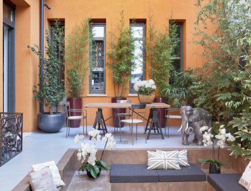 Italiaanse patio tuin