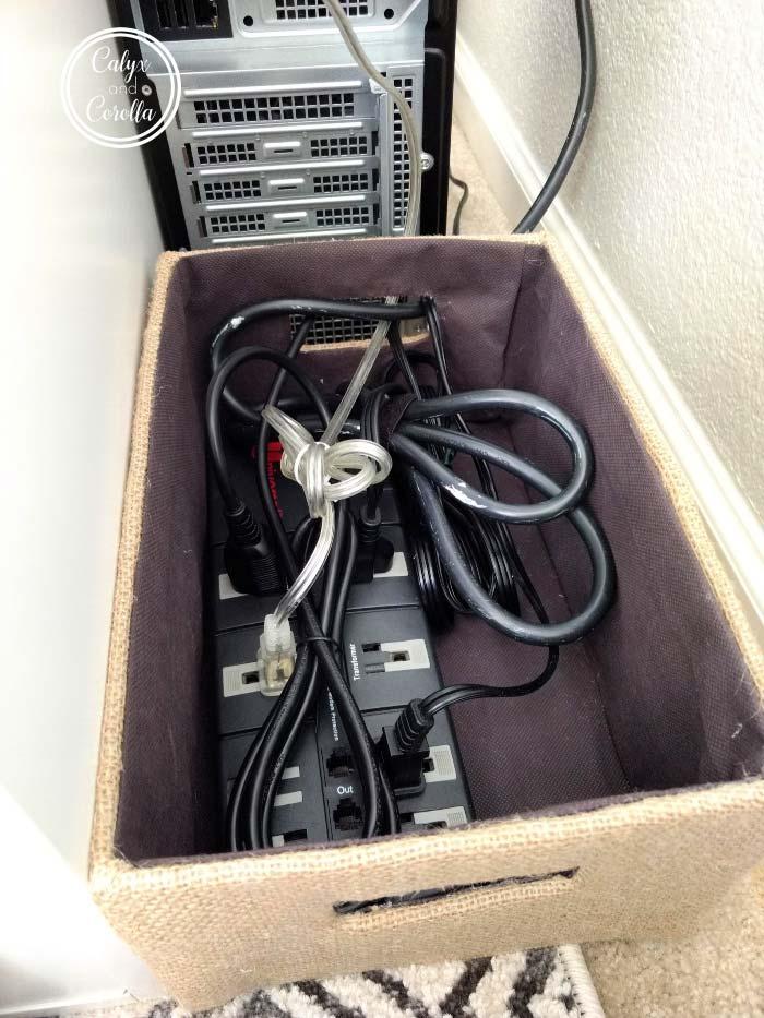 kabels verbergen opbergdoos