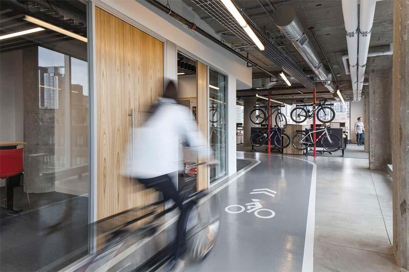kantoor inrichten tips fietsen