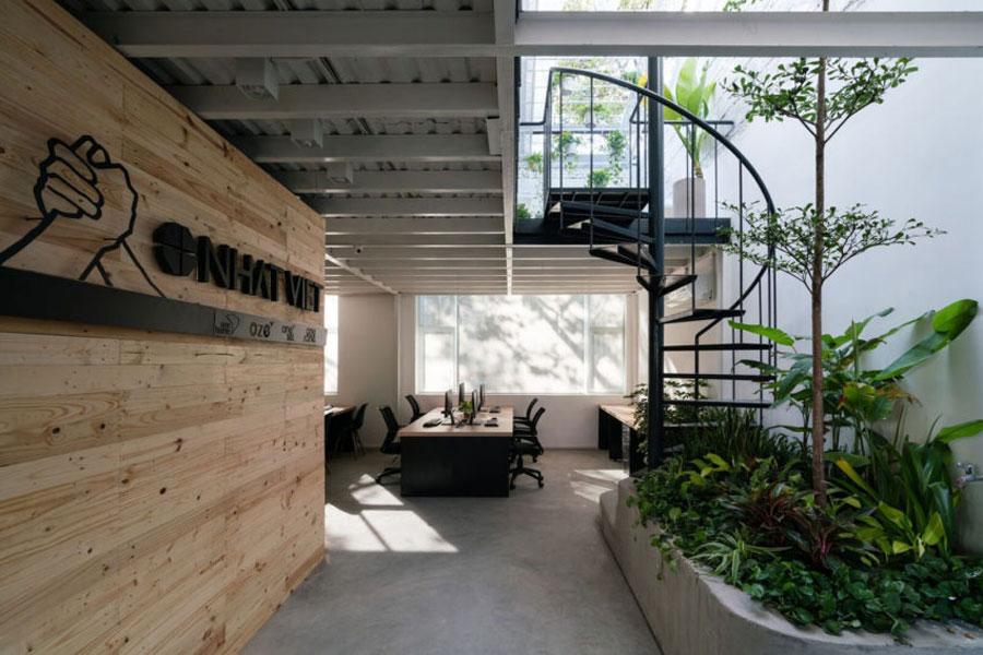 kantoor inrichten tips planten