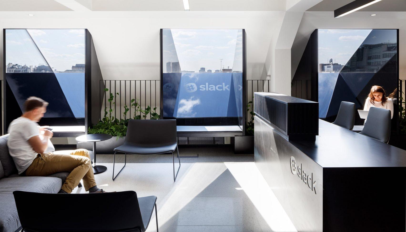 Het kantoor van Slack in Londen