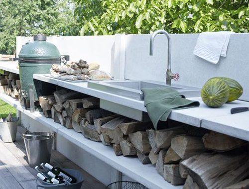 Keuken in de tuin