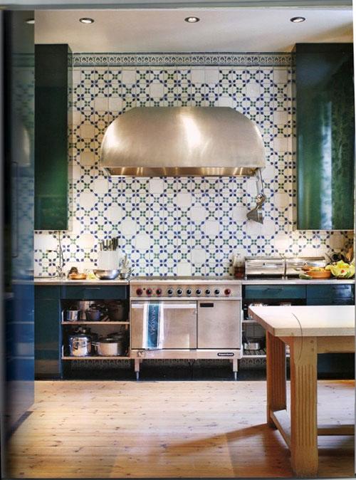 Keuken met Marokkaanse tegels