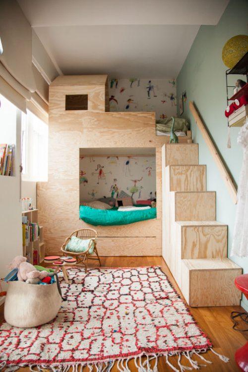 Kinderkamer Met Hoogslaper.Kinderkamer Met Underlayment Stapelbed Huis Inrichten Com