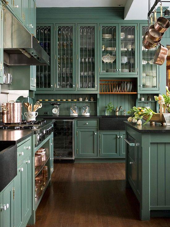 klassieke-groene-keuken