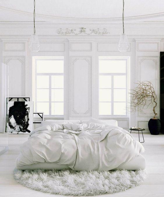 Klassieke witte slaapkamer