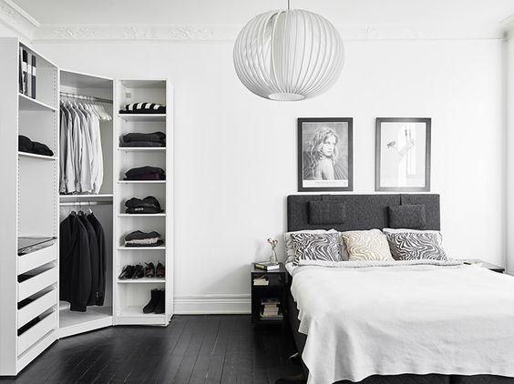 kledingkast hoek slaapkamer