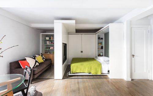 Klein appartement slaapkamer