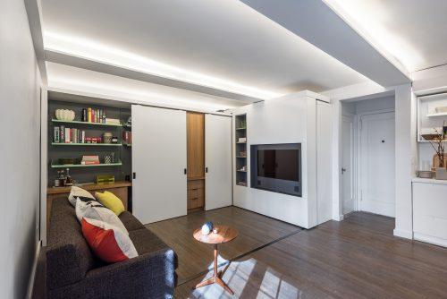 Klein appartement woonkamer