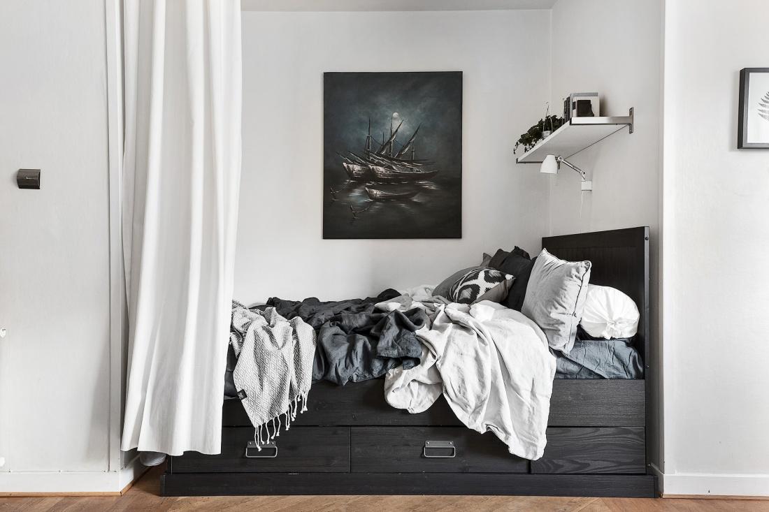 Klein eenkamerappartement van 35m2 in IKEA style