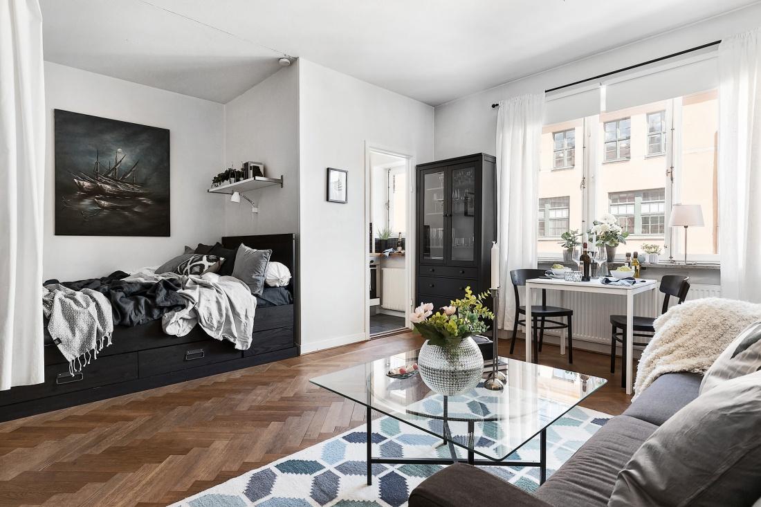 Klein Eenkamerappartement Van 35m2 In Ikea Style Huis Inrichten Com