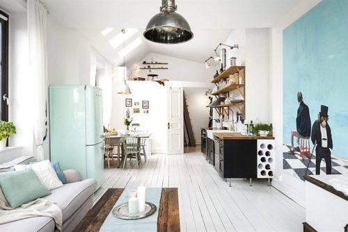 Klein Wonen Kantoor : Klein wonen in een scandinavisch appartement van m huis