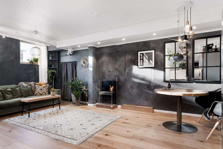 Dit kleine appartement bewijst dat betonstuc muren grote impact