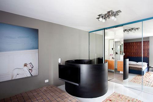 Kleine appartement inrichting met twee verdiepingen