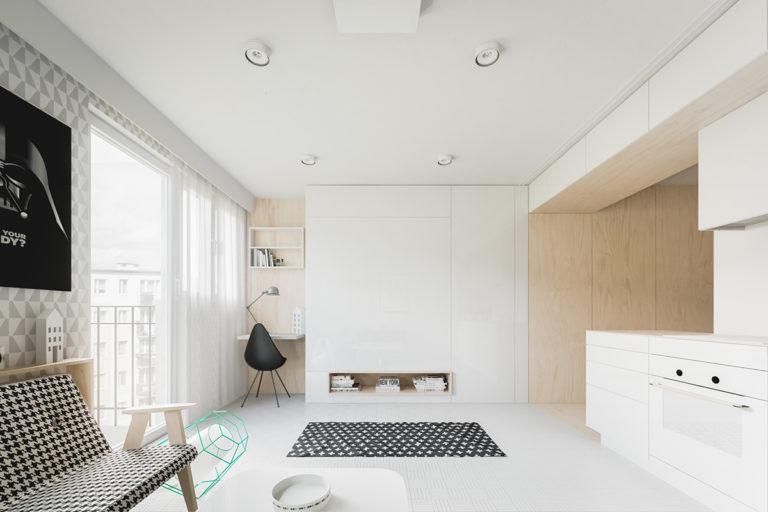 Dit kleine appartement van nog geen 35m2 is super leuk ingericht!