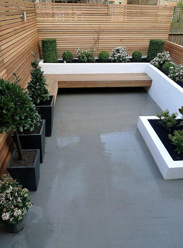 Kleine moderne en onderhoudsvriendelijke designtuin
