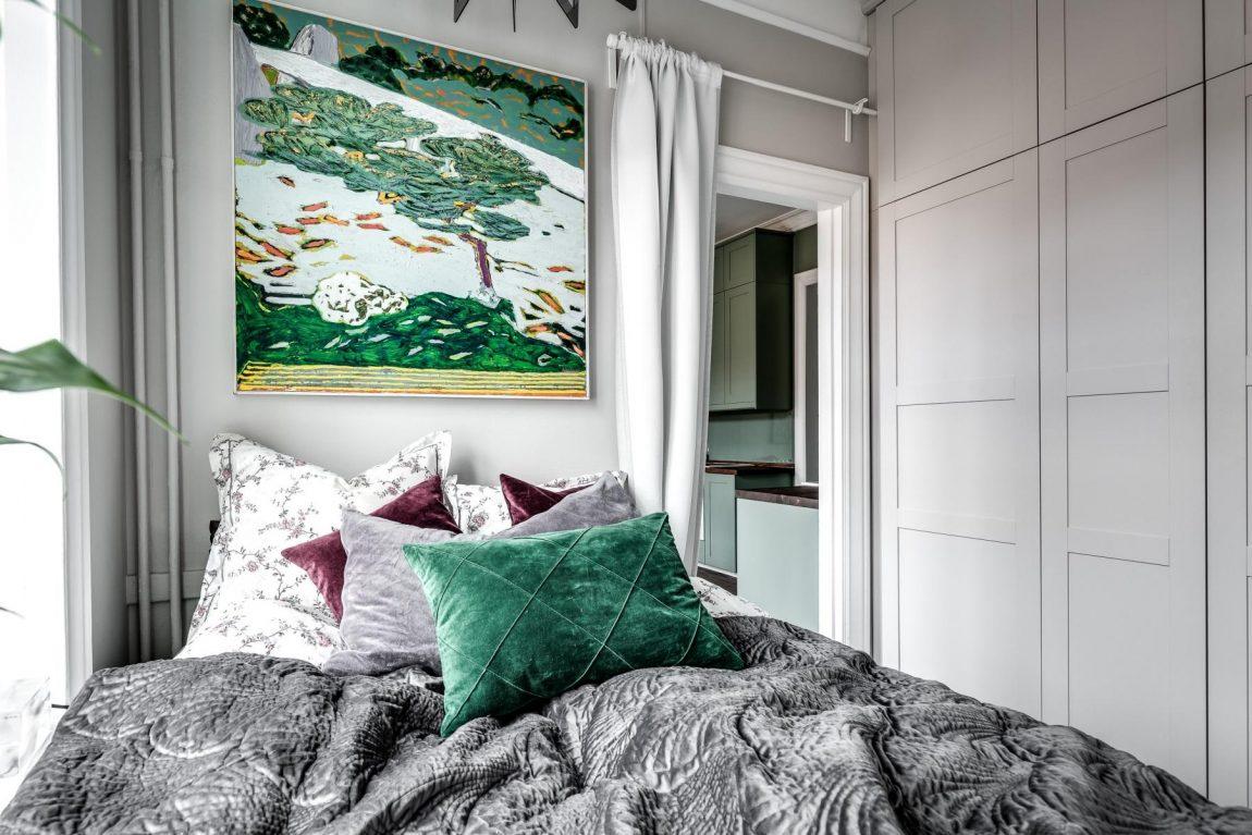 kleine slaapkamer inrichten kledingkast