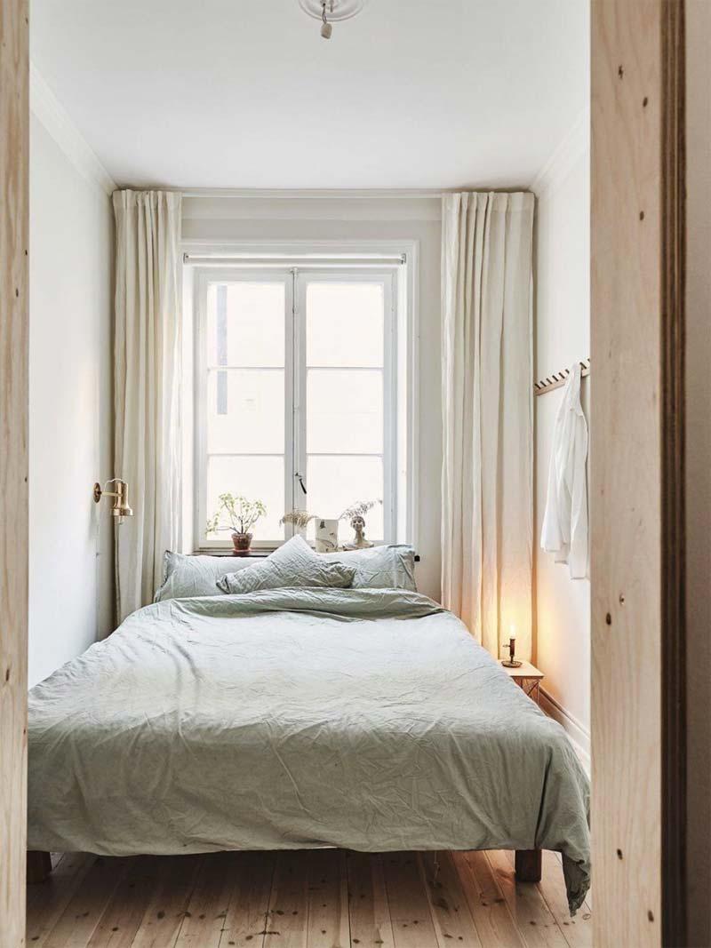 kleine slaapkamer inrichten lichte kleuren