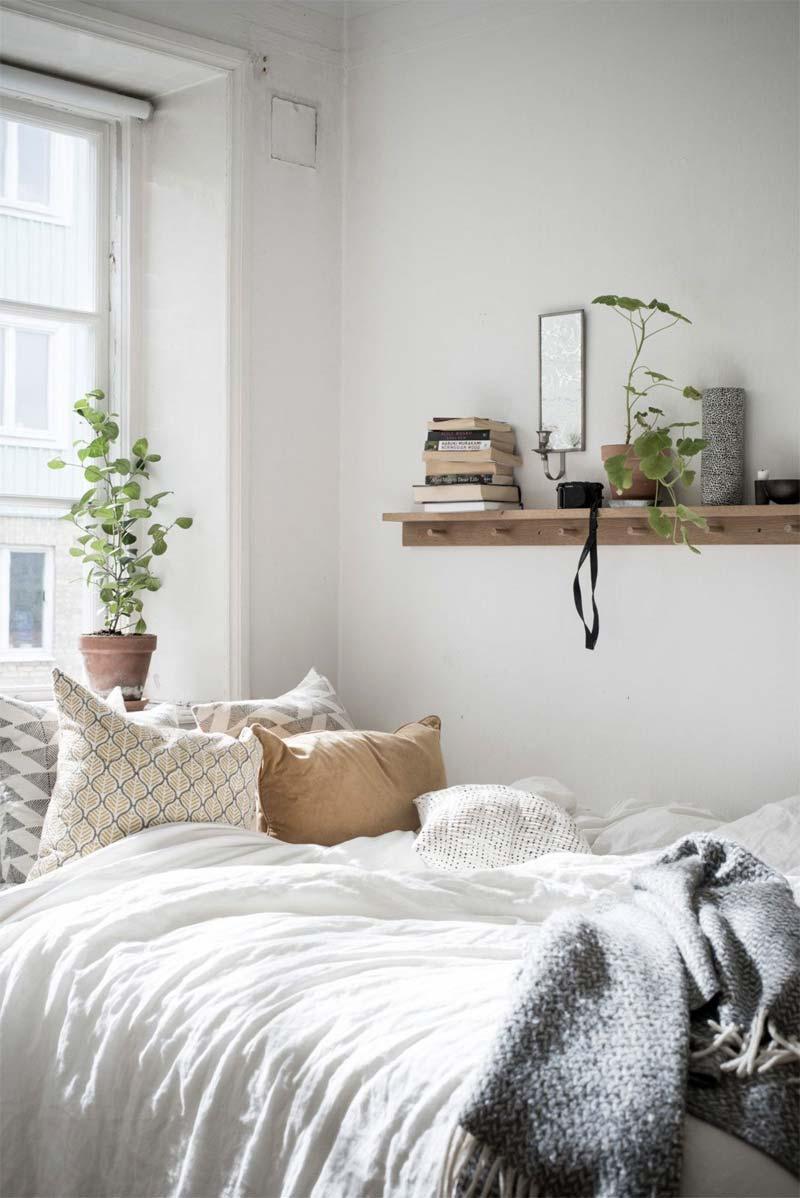 kleine slaapkamer wandplank