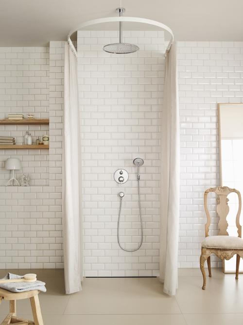 Kleine witte tegels voor de badkamer